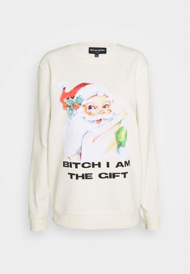 I AM THE GIFT CHRISTMAS  - Bluza - cream