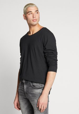 SHAPED TEE - Long sleeved top - black