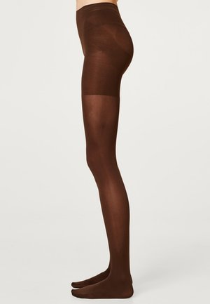 MIT SHAPING - Tights - dark brown