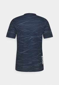 POC - PURE TEE - T-shirt imprimé - lines turmaline navy - 1