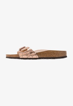 MADRID - Slippers - gator gleam copper