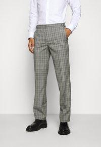 HUGO - Oblekové kalhoty - silver - 0