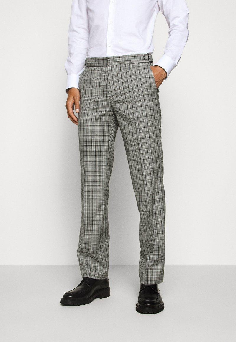 HUGO - Oblekové kalhoty - silver
