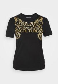 Versace Jeans Couture - T-shirt z nadrukiem - black - 0