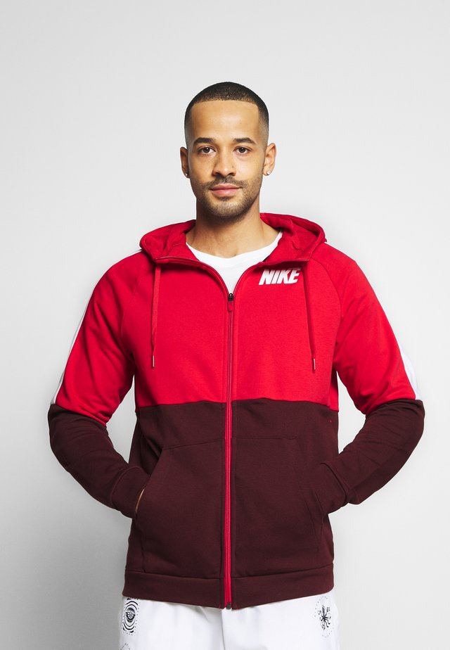 DRY  - veste en sweat zippée - university red/mystic dates/white