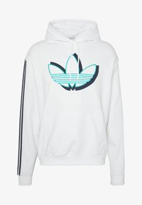 adidas Originals - SPORT COLLECTION HODDIE SWEAT - Bluza z kapturem - white - 4