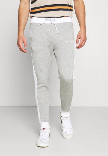 PANELLED SIGNATURE JOGGER - Pantaloni sportivi - grey marl
