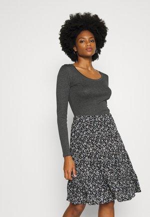 SORANA  - Long sleeved top - slate grey melange