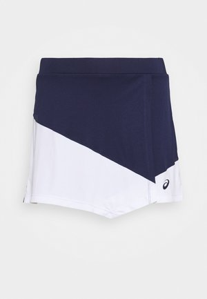 CLUB SKORT - Sportkjol - peacoat/brilliant white