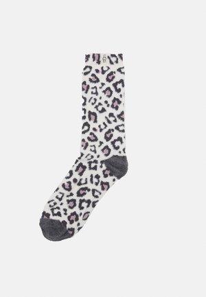 LESLIE GRAPHIC CREW SOCK - Socks - cream