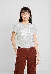 Abercrombie & Fitch - COZY LOGO TEE - Print T-shirt - grey - 0