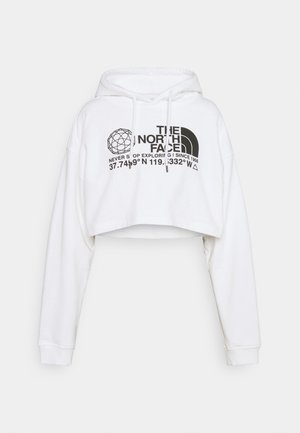 COORDINATES CROP DROP HOODIE - Sweatshirt - white