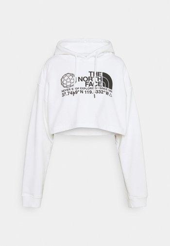 COORDINATES CROP DROP HOODIE - Sweatshirt - white