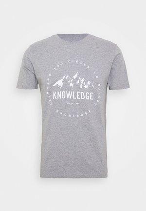 ALDER MOUNTAIN TEE - Print T-shirt - grey