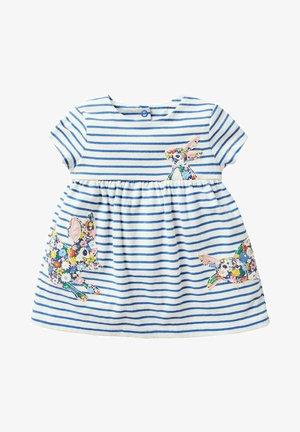 MIT GROSSER APPLIKATION - Jersey dress - naturweiß/elisabethanisches blau, häschen