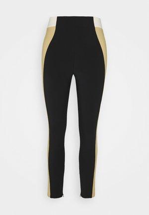Leggings - Trousers - nero/cammello/burro