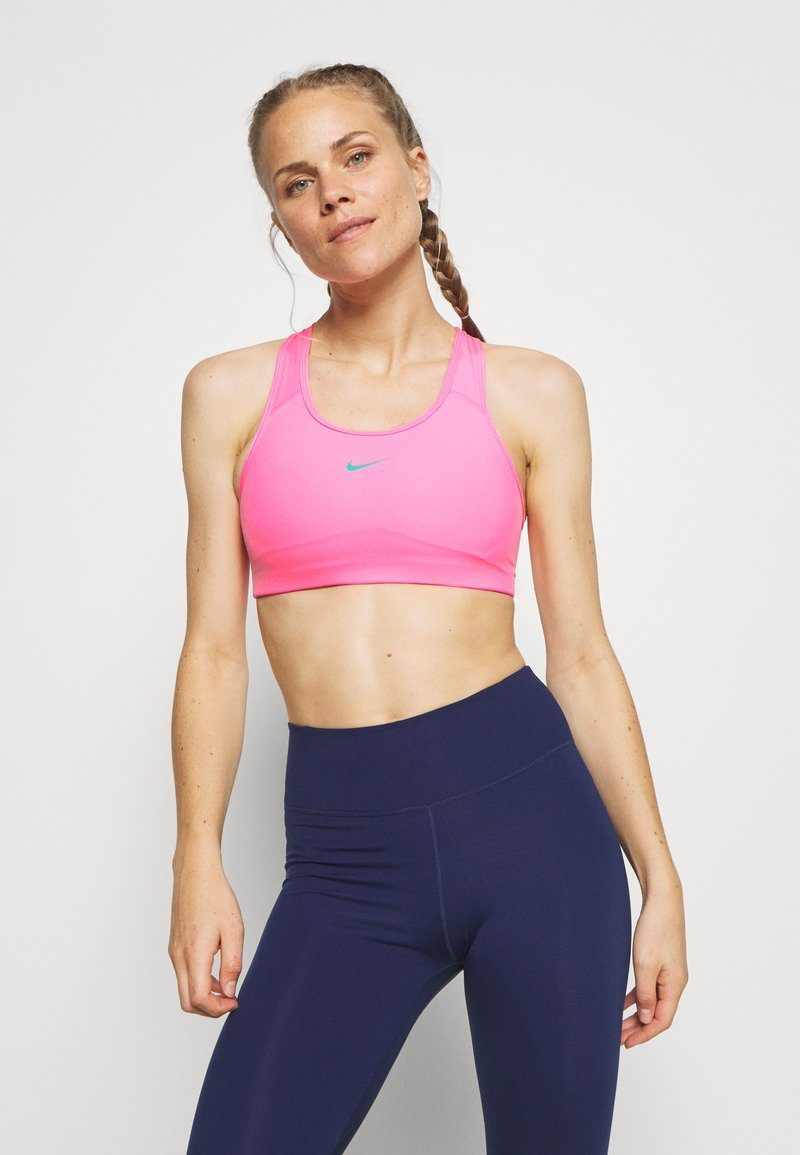 Nike Performance - BRA PAD - Sports bra - pink beam/new green