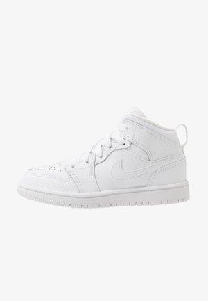1 MID UNISEX - Basketball shoes - white