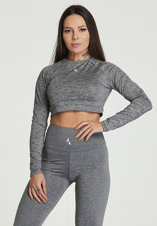 CROPPED LONGSLEEVE - T-shirt de sport - grey