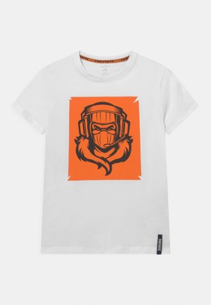 NKMFORTNITE FESSOR - T-shirt con stampa - white