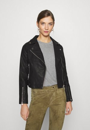 TABBY BIKER - Faux leather jacket - black