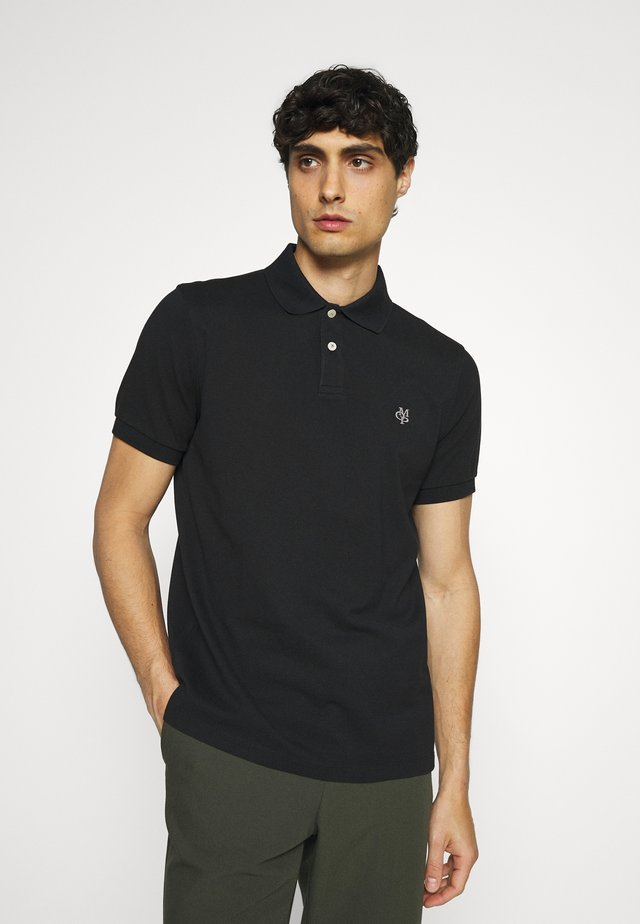 SHORT SLEEVE BUTTON - Poloshirt - black