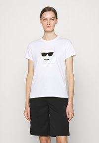 KARL LAGERFELD - IKONIK CHOUPETTE - Print T-shirt - white - 0