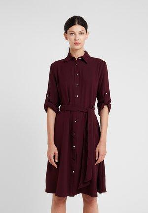 TRIPLE GEORGETTE - Shirt dress - pinot noir