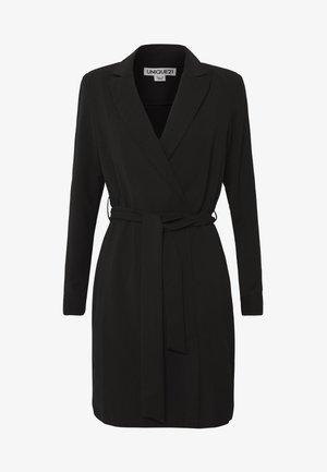 BELTED TAILORED DRESS - Denní šaty - black