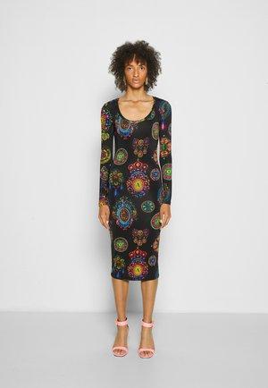 DRESS - Jersey dress - black/multi