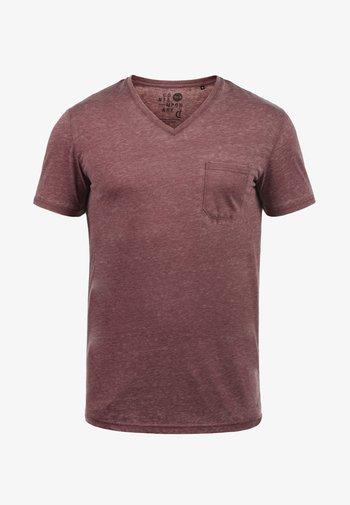 V-SHIRT THEON - Basic T-shirt - wine red