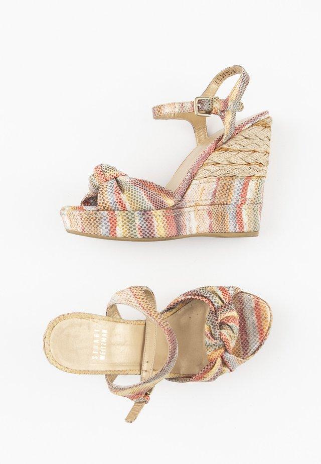 Sandalen met sleehak - multi-colored