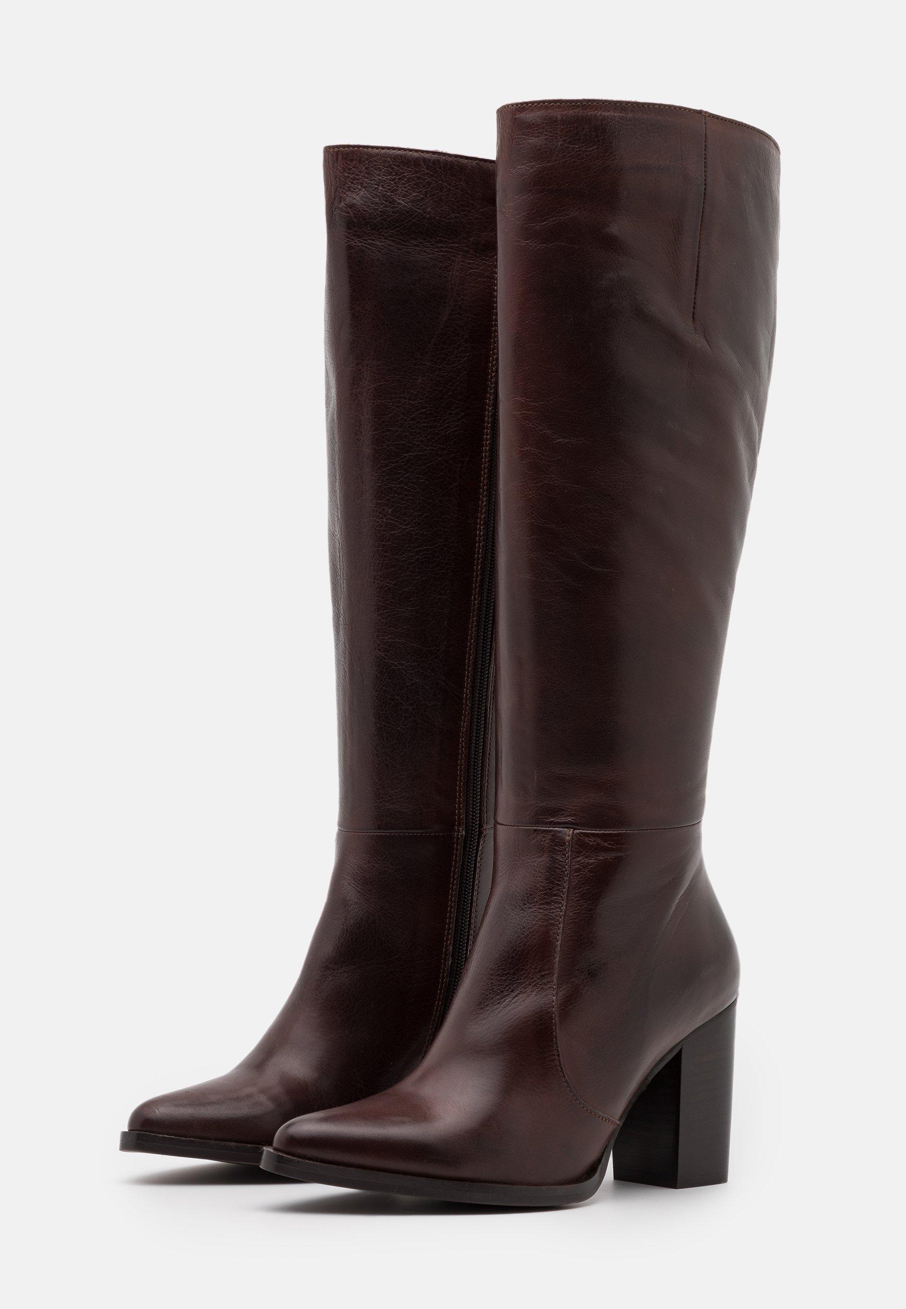 Bianco BIAJUDIA LONG BOOT High Heel Stiefel dark brown/dunkelbraun