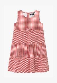 Blue Seven - SMALL GIRLS TIERD CHECK - Shirt dress - hochrot - 0