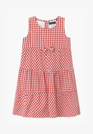 SMALL GIRLS TIERD CHECK - Košilové šaty - hochrot