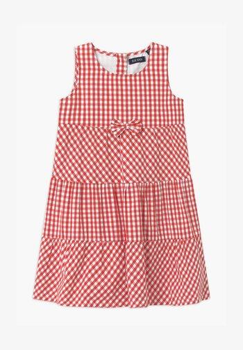 SMALL GIRLS TIERD CHECK - Abito a camicia - hochrot