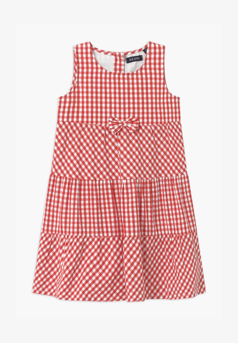 Blue Seven - SMALL GIRLS TIERD CHECK - Shirt dress - hochrot
