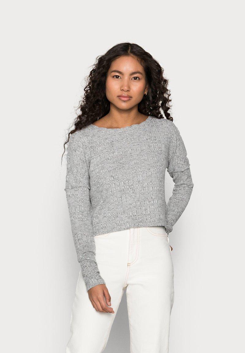 Topshop Petite - CUT AND SEW LETTUCE - Jumper - grey