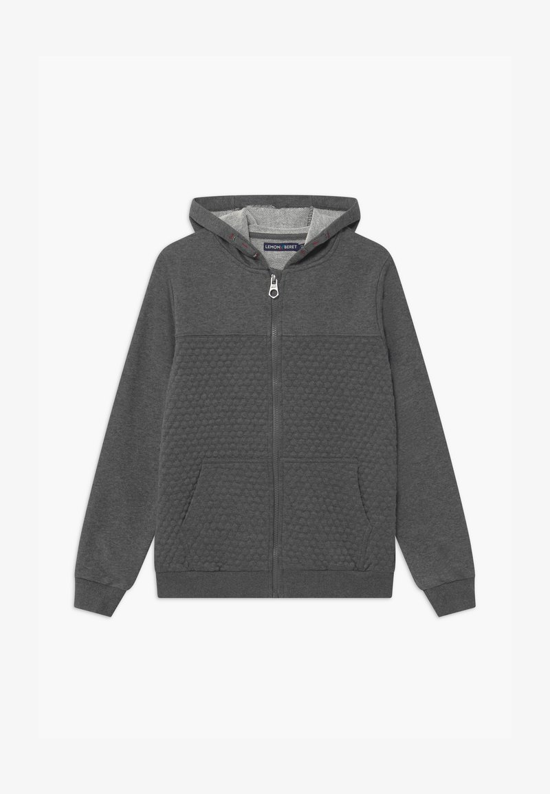 Lemon Beret - TEEN BOYS - Zip-up hoodie - dark grey melange