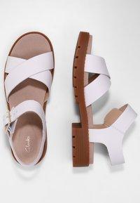Clarks - Sandals - weißes leder - 2