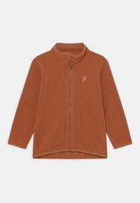 Lindex - MINI JACKET FIX UNISEX - Fleece jacket - brown - 0