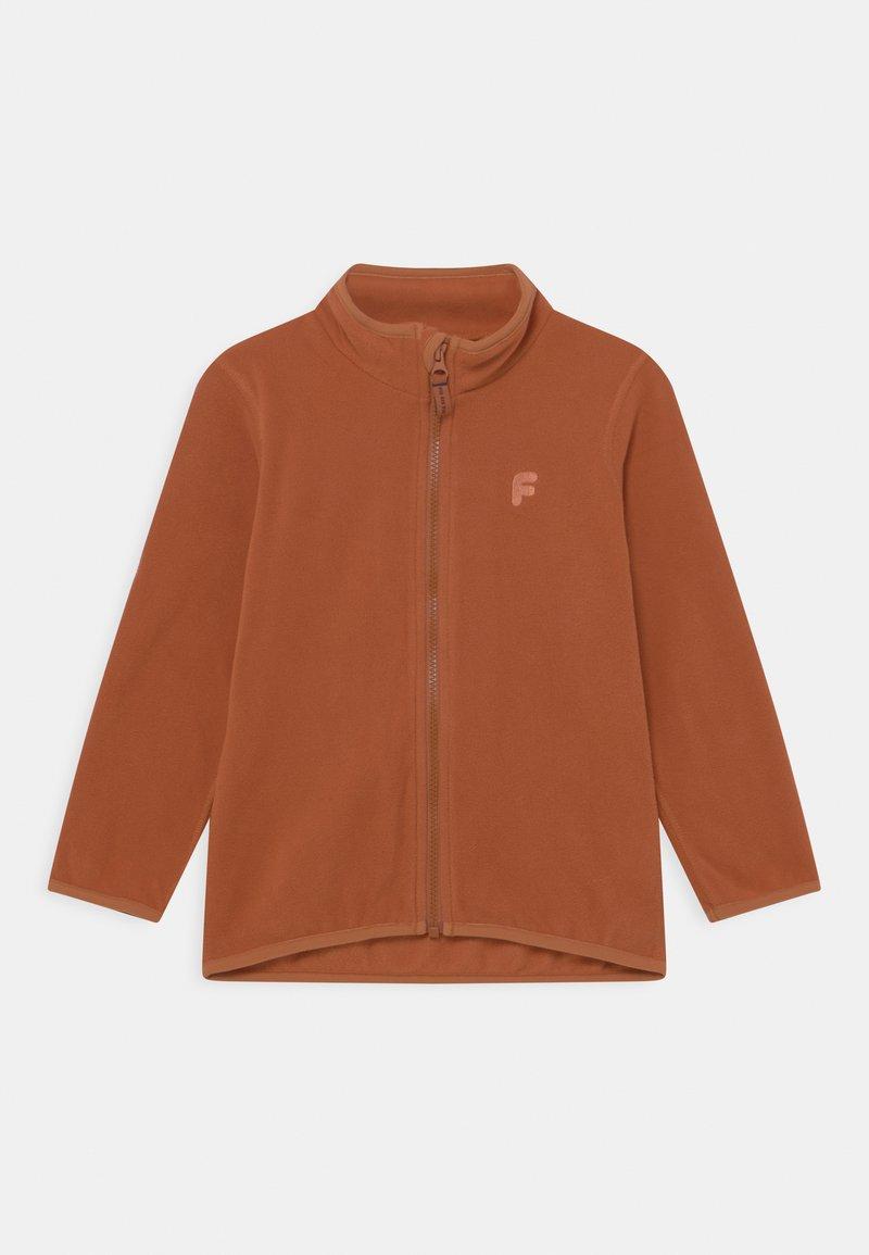 Lindex - MINI JACKET FIX UNISEX - Fleece jacket - brown