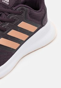 adidas Performance - RUNFALCON UNISEX - Neutral running shoes - noble purple/copper metallic/pink tint - 4