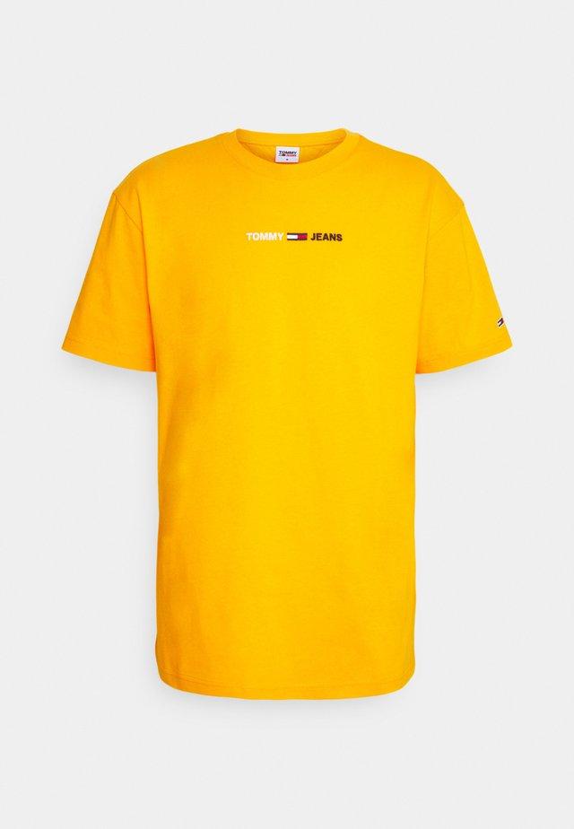 LINEAR LOGO TEE - T-shirt imprimé - orange