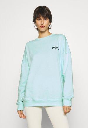 PLAYBOY LOGO OVERSIZED - Sweatshirt - light blue