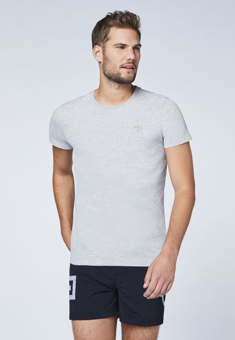 Homme DOPPELPACK  - T-shirt basique - grey