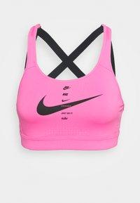 Nike Performance - IMPACT STRAPPY BRA - High support sports bra - pink glow/black - 6