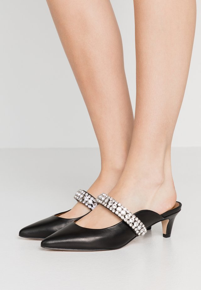 DUTCHESS - Heeled mules - black