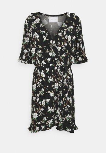 VILANA DITSY FLOUNCE WRAP DRESS - Robe d'été - black