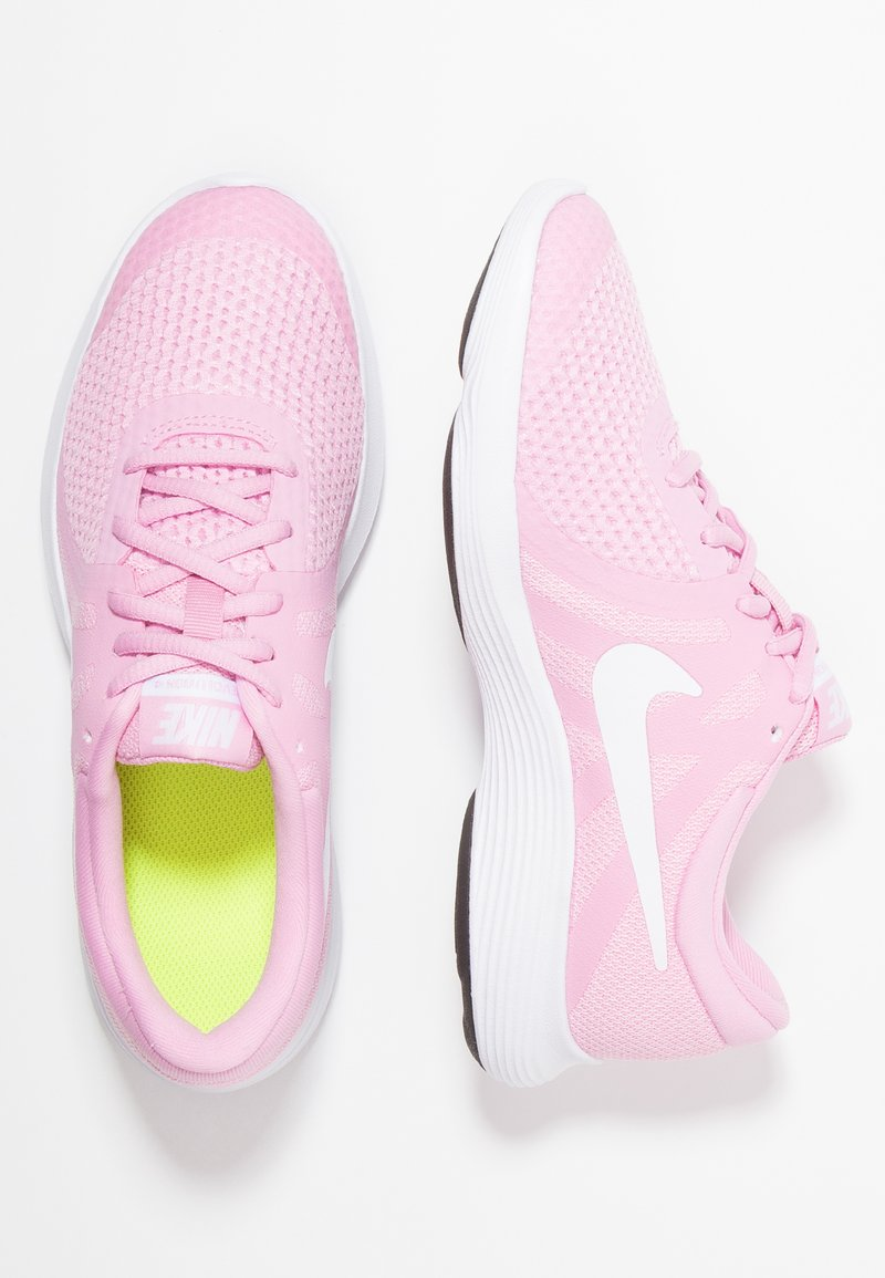 Nike Performance - REVOLUTION 4 - Neutrala löparskor - pink rise/white/pink foam/black